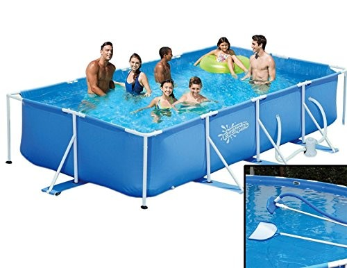 Best Swimming Pool for Garden Summer Escapes Frame Pool 427X244X91CM Frame Swimming Pool Cleaning Set