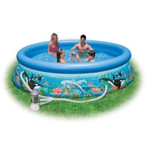Best Swimming Pool for Garden MAC Intex Two 54906 - Pool Easy Ocean with Filter Pump, CM 366 X 76