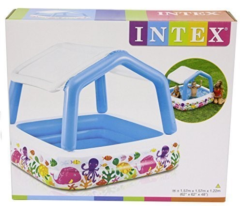 Intex sun shade paddling swimming pool best swimming for Best children s paddling pool