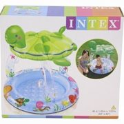 "Best Swimming Pool for Garden Intex Inflatable Sea Turtle Sun Shade Baby Pool 40"" x 42"""