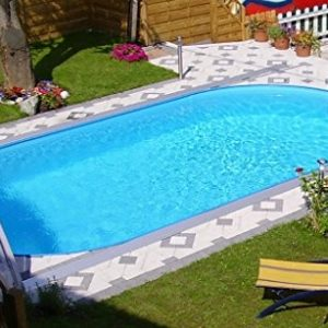 Best Swimming Pool for Garden Miganeo® Styra Oval Steel Wall Pool, Built-In Pool, Various Sizes 490 x 300 x 120cm-800 x 400 x 150cm, Only Suitable for Installation Below Ground