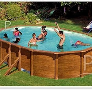 Best Swimming Pool for Garden Steel Pool wood effect GRE Galapagos 730