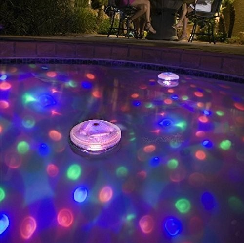 Best Swimming Pool for Garden Ailiebhaus Pond Light LED Swimming Pool Waterproof Floating Lights with 5 Different Light Colors for Party Hot Hub Disco