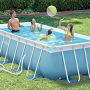 Best Swimming Pool for Garden Intex Pool Prism Metal Double Frame with Filter Pump, Ladder, base-copertura Towel 400 x 200 x 100 cm