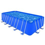 Best Swimming Pool for Garden vidaXL Above Ground Swimming Pool Steel Rectangular 540 x 270 122 cm