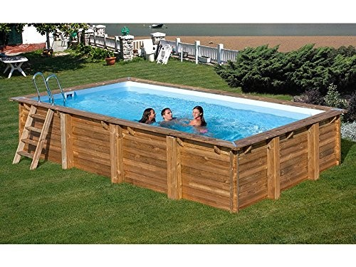 Best Swimming Pool for Garden gre Rectangular Frame Pool Braga: 352cm 763X352X142cm, 7Pieces, 763cm H 56cm