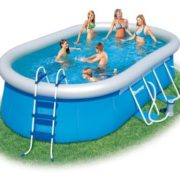 Best Swimming Pool for Garden Bestway Oval Fast Set Above Ground Pool - Blue, 16 Ft