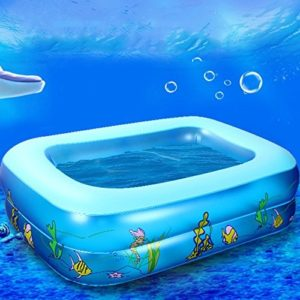 Best Swimming Pool for Garden Hrph Kid Baby's Cartoon Underwater World Pattern Printed Inflatable Aerated Square Newborn's Swimming Pool