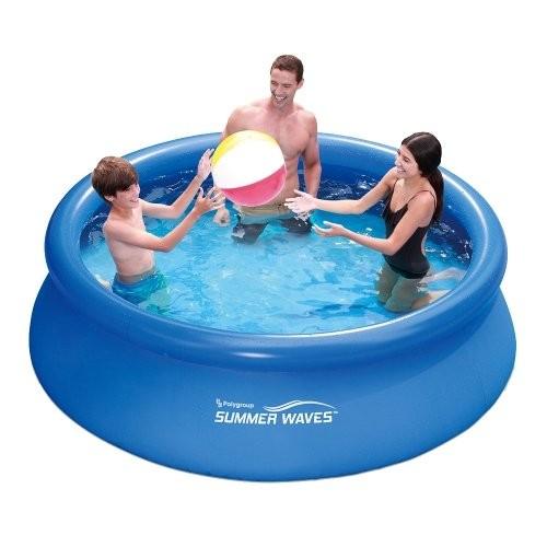 Heavy duty 8ft fast set pool best swimming pool for garden for Obi fast set pool