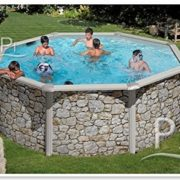 Best Swimming Pool for Garden Steel Pool stone effect GRE Iraklion 350