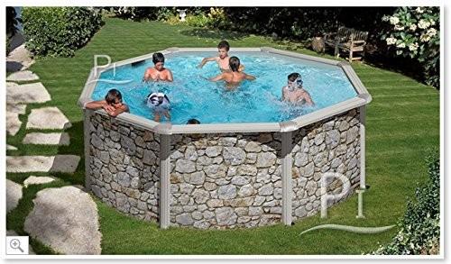Best Swimming Pool for Garden Steel Pool stone effect GRE Iraklion 350