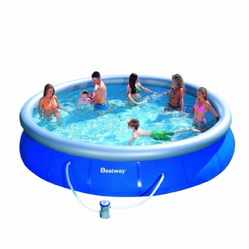 Bestway 15ft fast set pool set pool 530 pump best swimming pool for garden Inflatable quick set swimming pool