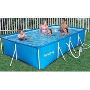 Best Swimming Pool for Garden Rectangular Pool Bestway with Pump and Filter, 300x 201x 66cm