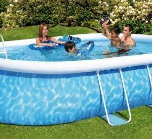 Best Swimming Pool for Garden Friedola 12305Quick Pool Set Manhattan, 610x 366x 48-Inch, Blue