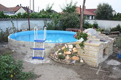Steel wall pool white pool luxury m x m Liner 4 50 x 1 20