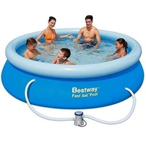 "Best Swimming Pool for Garden BESTWAY INFLATABLE FAST SET FAMILY GARDEN ROUND PADDLING SWIMMING POOL 10x30"" A-BW57109"