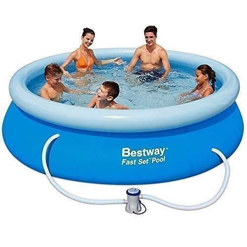 Bestway Inflatable Fast Set Family Garden Round Paddling Swimming Pool 10x30 A Bw57109 Best