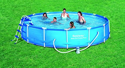Bestway Fast Set Above Ground Pool Blue 15 Ft 530 Gallons Best Swimming Pool For Garden