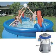 Best Swimming Pool for Garden Bestway 12ft Fast Set Pool Set (Pool & 330 Pump) With Volleyball Net