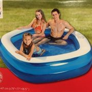 "Best Swimming Pool for Garden Jilong Pentagon Family Paddling Pool (79"" x 77"" x 18.5"" Blue)"