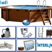 Best Swimming Pool for Garden Interline 50700220 530 x 136 cm Round Bali Swimming Pool