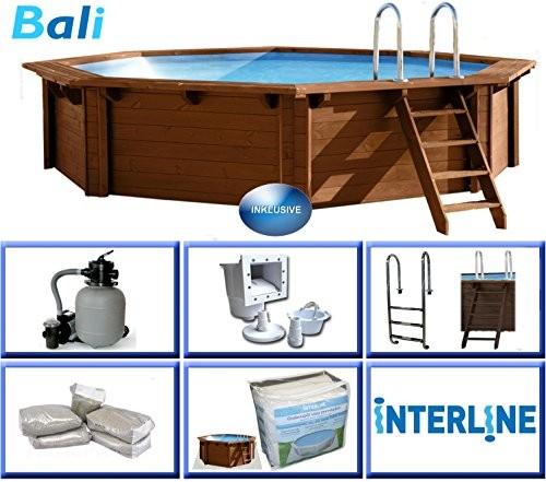 Interline 50700210 440 X 136 Cm Round Bali Swimming Pool