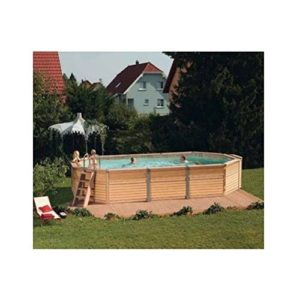 Best Swimming Pool for Garden Zodiac Azteck Maxiwood Oval Wooden Pool 4m x 7.2m