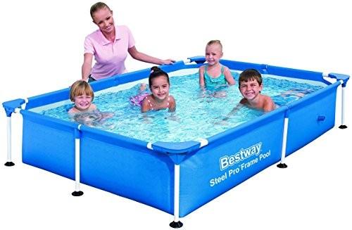 Bestway pool frame splash jr steel pro 221 x 150 x 43 for Splash pool show quebec