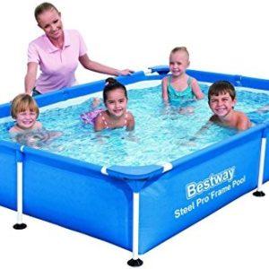 Best Swimming Pool for Garden Bestway Pool Frame  Splash Jr. Steel Pro 221 x 150 x 43 - Blue