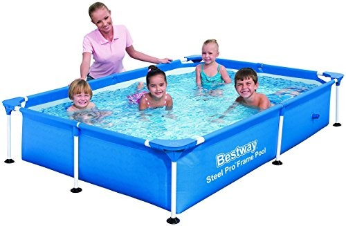 Best Swimming Pool for Garden Bestway Pool Frame  Splash Jr. Steel Pro 221 x 150 x 43 - Blue