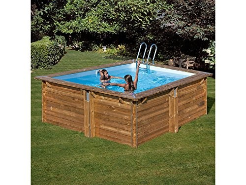Best Swimming Pool for Garden Green Square Pool Carra, LxHxB: 267X267X116 267 cm cm, 7 Pieces, 267 cm, 116 cm