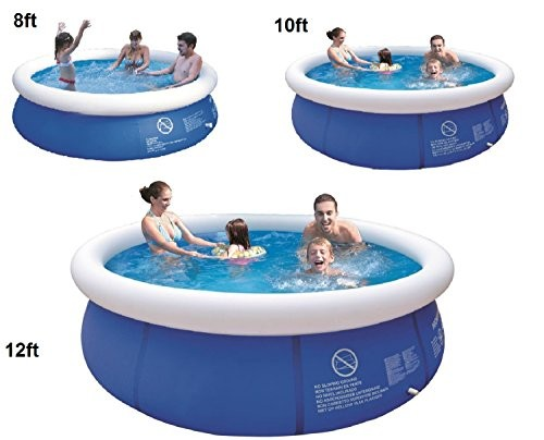 8 39 10 39 12 39 Ft Prompt Set Round Inflatable Family Swimming Paddling Pool Garden Outdoor 12ft Pool