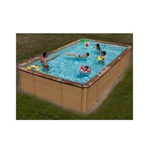 Best Swimming Pool for Garden Zodiac Azteck Maxiwood Rectangular Wooden Pool 4m x 8.8m