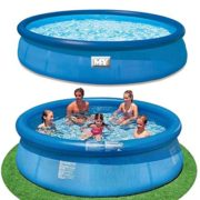 Best Swimming Pool for Garden 8ft Feet Foot Quick Easy Set Swimming Ring Paddling Pool Childrens Family Garden
