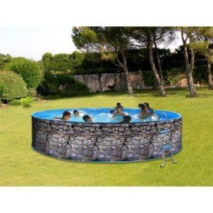 Best Swimming Pool for Garden Swimming Pool Kit Decorative Stone NEVADA Steel Diameter 4.0 m x 0.90 m you 8139