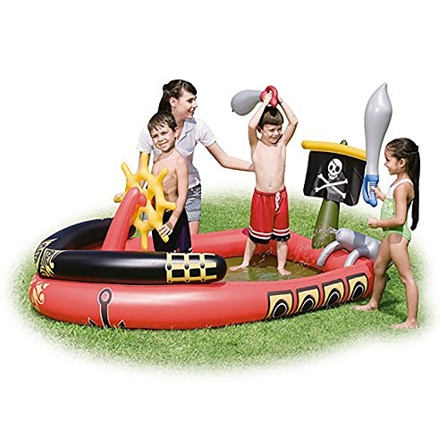 """Best Swimming Pool for Garden BESTWAY PIRATE PLAY INFLATABLE PLAY POOL 75"""" X 55"""" X 38"""" BW53041"""