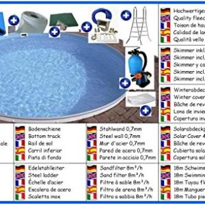 Best Swimming Pool for Garden Stahlwandbecken Set Round Mould 6 M x 1,50 M All foil 0.8 MM Pool Pools round swimming Pools.