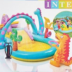 Best Swimming Pool for Garden Dinoland Water fun Kids Water Play Centre with Pump Kids Paddling Pool by Intex