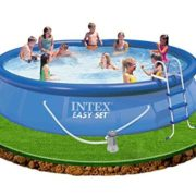 Best Swimming Pool for Garden Intex Easy Set Up 15ft x 36in Pool with Filter Pump, Ladder, Ground Cloth and Cover #54914
