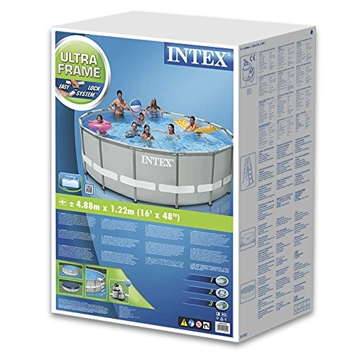 Intex Pool Above Ground Steel 488x122cm Sand Pump Scale Sheeting 28324np Best Swimming Pool