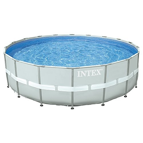 Intex 28332 Above Ground Pools Frame Round Grey Metal Best Swimming Pool For Garden