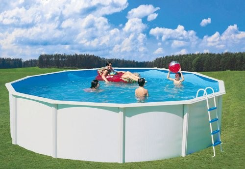 Nuovo stahlwandpool set de luxe diameter 3 5 x 4 ft pool for Stahlwandpool set angebote