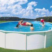 Best Swimming Pool for Garden Nuovo Stahlwandpool Set de Luxe Diameter 4.6 ft x 4 ft POOL Swimming POOL STAHLMANTELBECKEN