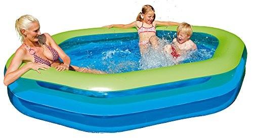 Best Swimming Pool for Garden Happy People 77781 Jumbo Pool Hexagon 252 x 172 x 50 cm