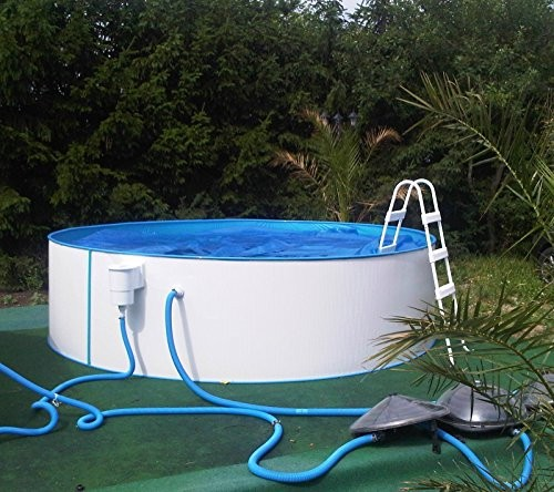 steel wall pool white pool luxury 5 50 x 1 20 m including. Black Bedroom Furniture Sets. Home Design Ideas