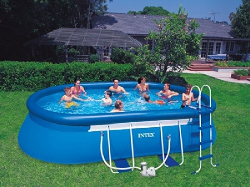 intex oval frame pool 610x366x122 57982 best swimming. Black Bedroom Furniture Sets. Home Design Ideas
