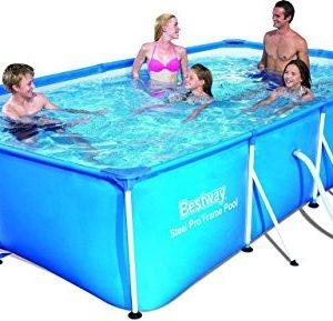 Best Swimming Pool for Garden Bestway Steel Pro Frame Pool 4.00m x 2.11m x 81cm - above ground pools (Frame, Rectangular, Blue, 220 - 240, Steel, PVC)