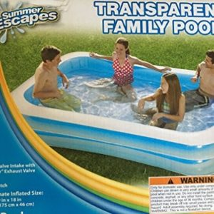 """Best Swimming Pool for Garden Transparent Family Pool 103"""" X 69"""" X 18"""""""