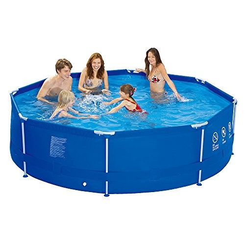 Jilong sirocco blue 540 set steel frame pool 540x122cm pool with cartridge filter pump for 10ft swimming pool with pump and cover