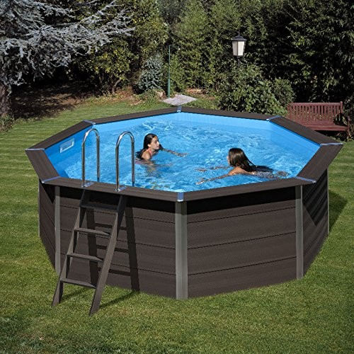 Kpco41 composite material anthracite with sand filter for Stahlwandpool 360 x 120
